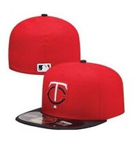 407bf7ac755 MLB Minnesota Twins Diamond Era Road 59fifty Baseball Cap Red dark Navy 7 7