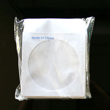 "10000 Wholesale CD DVD R Disc Paper Sleeve Envelope with 4"" Window & Flap"