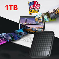 1TB Portable External Hard Drive Expansion USB 3.0 Games Storage Black