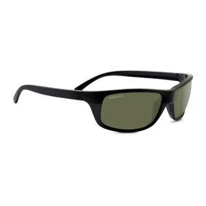 Serengeti Sunglasses, BORMIO, SATIN SHINY BLACK, PHD 2.0 POLARIZED 555NM