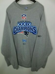 Vintage NFL Reebok Super Bowl XXXIX champions new England patriots sweater 2XL