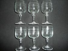 6 VERRES a vin blanc 12 cl , en cristal d'arques modèle MATIGNON gravé lot série