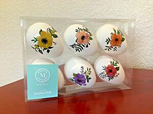 MARTHA STEWART HOME Plastic Easter Eggs Floral Bowl Filler Set of 6 ~NEW~ LOVELY