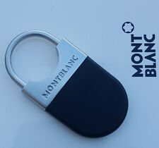 MONTBLANC NEW EXECUTIVE KEY RING / KEY CHAIN COLLECTION STAINLESS STEEL/ONYX SIL