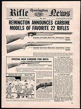 1961 REMINGTON 552 Speedmaster & 510 Targetmaster 513 .22 Carbine Rifle AD