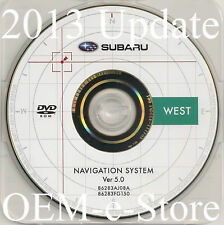 2009 2010 2011 Subaru Forester Navigation DVD WEST Map U.S Canada Ver 5.0 Update