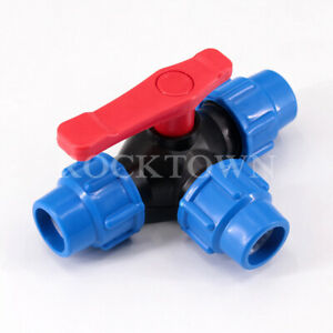 Hi-Q water pipe quick connection tee valve switch tap water plastic ball 25MM