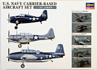 Hasegawa QG47 721470 US Navy Carrier Based Aircraft Set 1/350 scale