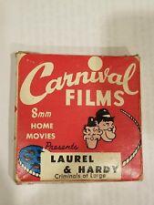 8mm LAUREL AND HARDY CRIMINALS AT LARGE