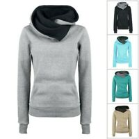 Women Long Sleeve Hoodie Sweatshirt Sweater Hooded Outwear Pullover Tops Blouse