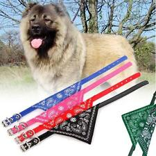 Adjustable Pet Dog Puppy Cat Neck Scarf Bandana Leather Collar Neckerchief XL MT