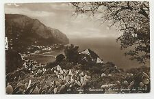Old Postcard, Italy, Capri, Panorama e Marina Grande da Tiberio