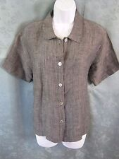 Marc Ware Hot Cotton Linen Blouse Size Small Gray