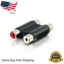 2 RCA Female to Female F/F Video Connector Converter Adapter for TV DVD HDTV