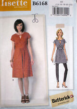 Butterick Misses LISETTE Raised Waist Keyhole Tunic Dress Pattern 6168 275 14-22