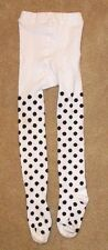EUC Baby Girl XS 2 - 5 Years Kate Spade Black White Polka Dot Knit Cotton Tights