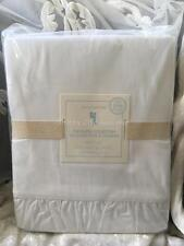 "Pottery Barn Double Sheet Set Shabby White Ruffles Ruffled Chic 16"" Deep Pockets"