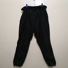 C680 - Another One Black Garterized Stylized Waist Unisex Cargo Pants