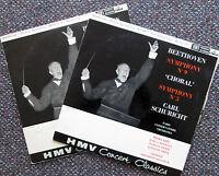XLP 20001-2 Beethoven Symphony no. 9 Carl Schuricht 2xLP HMV Mono VG/VG