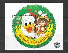 HICK GIRL- MINT TURKS & CAICOS ISLANDS SOUVENIR SHEET    DISNEY  CHRISTMAS    A1