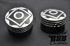 Achscover set 3 Harley Davidson softail Touring Sportster Dyna negro cromo cut