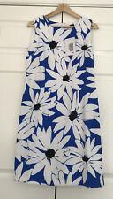 Ronni Nicole Blue and White Sleeveless Daisy Dress Size Uk14