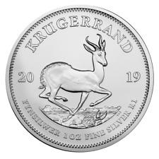 Süd Afrika 1 oz. Unze Silber 999 Krügerrand 2019 Silbermünze in Kapsel - NEU