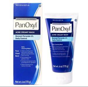 PanOxyl Benzoyl Peroxide 4% Face Back Acne CreamyWash 6oz - 170g - 2023 Exp