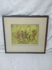 Abstract Etching byBarbara Neustadt; Joyous Procession Numbered Signed 1956
