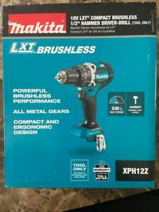 Makita XPH12Z 18-Volt LXT Lithium-Ion Cordless Hammer Driver-Drill - Bare Tool