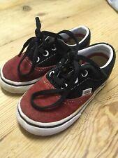 Vans Trainers Size 5 Kids Shoes Infant Red Black