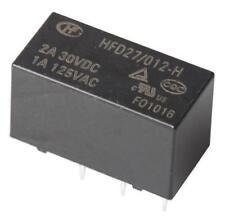 1 x HFD27/012-H DPDT PCB Mount Non-Latching Relay, 12V DC Coil, 1A @ 125V AC
