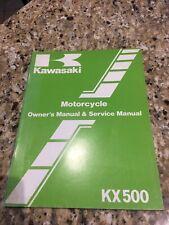 Kawasaki KX 500 1983 Motorcycle Service Manual LIKE NEW