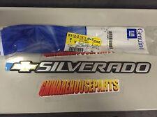 "1999-2007 SILVERADO TAILGATE EMBLEM ""SILVERADO with bowtie emblem NEW # 15114063"
