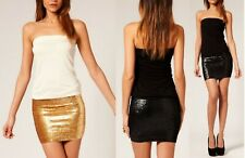 ASOS BANDEAU DRESS WITH SEQUIN SKIRT SIZE UK 10
