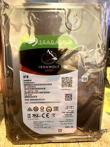 "ST8000VN004 Seagate IronWolf NAS 8TB 7200RPM 256M 6Gb 3.5"" SATA Hard Drive New"
