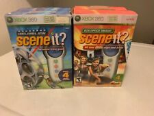 NEW TWO Scene It? Trivia Games with Eight Wireless Controllers - Xbox 360 SEALED