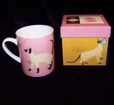 Magpie Meow Dutchess Mug Siamese Cat Coffee Tea Cup with Box Kitty