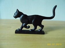 FRANKLIN MINT CURIO CABINET CATS COLLECTIBLE CAT FIGURINE, BOOTSCRAPER