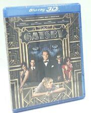 Great Gatsby 3D, The (Blu-ray 3D+Blu-ray+DVD+Digital, 2013; 3 Disc Set) NEW