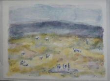 """Original signed limited edition Theodore Waddell lithograph """"Ennis Horses II"""""""