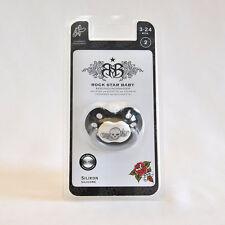 Rock Star Baby Schnuller TATTOO Größe 1, Silikon, BPA-frei, 0-3 Monate