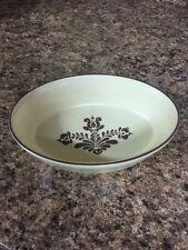 Pfaltzgraff 240 Oval Baking Dish Village Pattern USA Cream & Brown Collectible