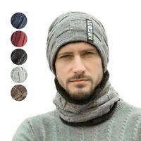 Women's Men Knit Slouchy Baggy Beanie Oversize Winter Hat Ski Fleece Cap Scarf