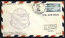 US First Flight Envelope Honolulu to Guam November 24 1935 First Trans Pacific |