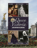 Gambia Royalty Stamps 2019 MNH Queen Victoria 200th Birthday Art 4v M/S
