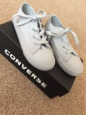 Infant Boys Grey Converse All Star UK Size 10 Ex Con With Box