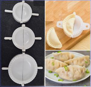 3 Dumpling Mould Pasty Pastry Press Dough Dimsum Maker Set Empanada MOMO Mold