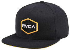 Y7 • RVCA Commonwealth Hat / Cap • NWT Adult Snapback Black / Multi • #28797
