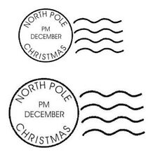 Christmas Postmarks Unmounted Rubber Stamps by Stamp Addicts